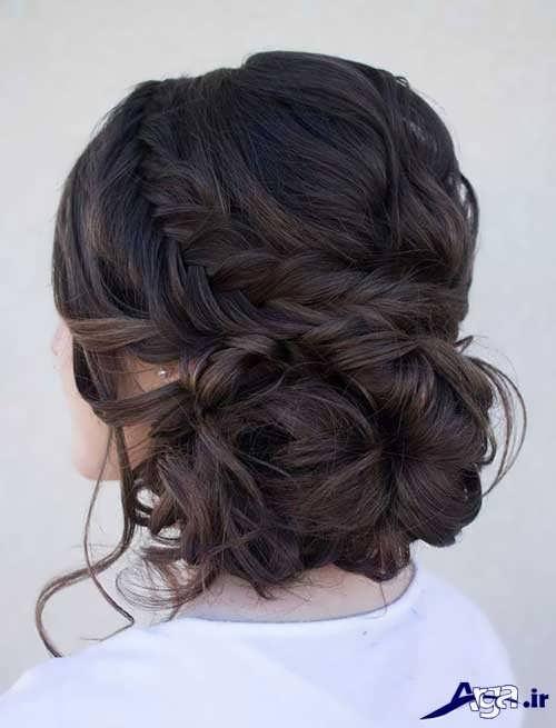 مدل آرایش موی شیک و متفاوت عروس