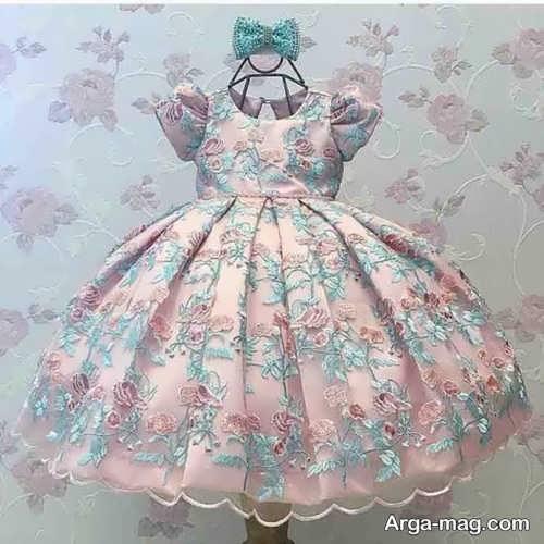 مدل لباس گیپور بچه گانه پفی