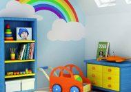 تزیین اتاق کودک با کاغذ رنگی