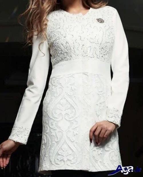 مدل مانتو سفید گیپور