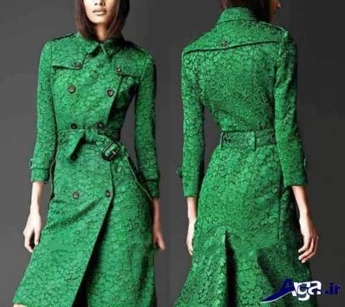 مدل مانتو گیپور سبز شیک