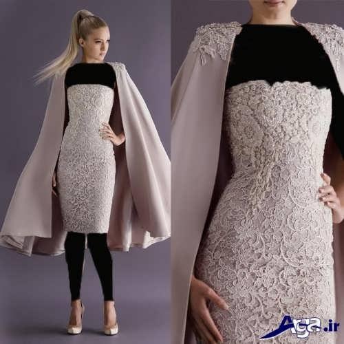مدل لباس مجلسی دکلته کار شده