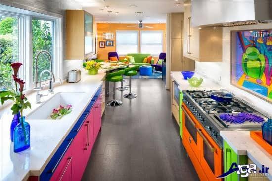 آشپزخانه رنگارنگ