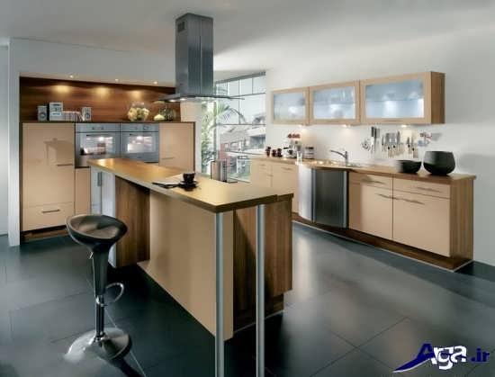 دیزاین آشپزخانه های رنگی