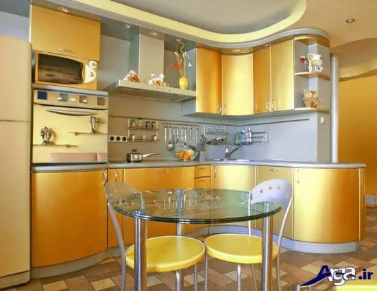 آشپزخانه طلایی زیبا