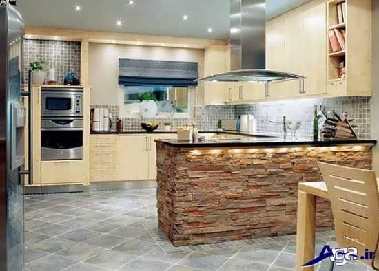 دکوراسیون آشپزخانه کرمی