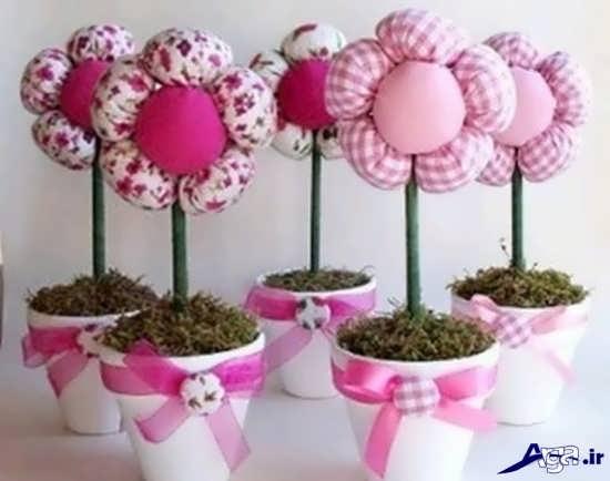 ساخت گل های پارچه ایی تزیینی
