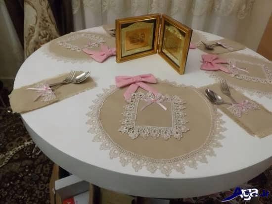 ساخت رومیزی با پارچه