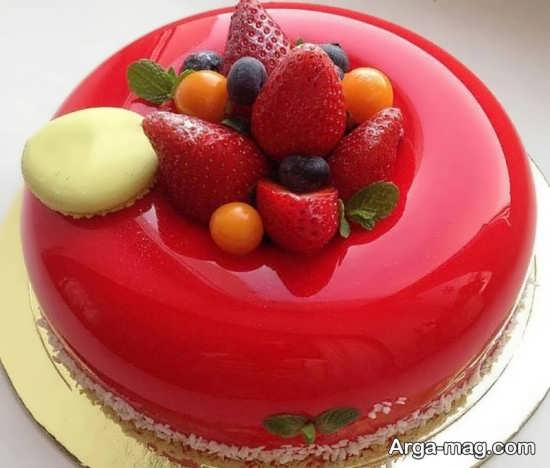 تزیینات میوه ای کیک تولد کودک