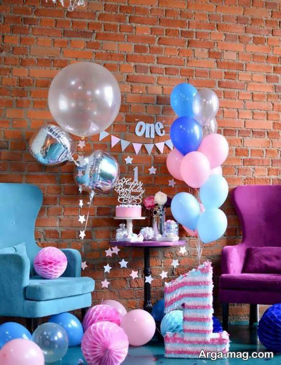 دیزاین جشن تولد یک سالگی با تمی مدرن
