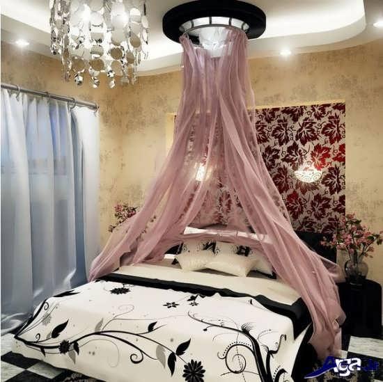 تزیین اتاق خواب عروس با تور