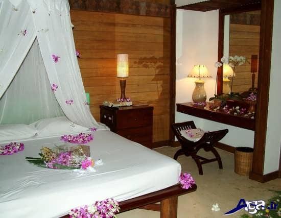 دیزاین اتاق خواب عروس با گل