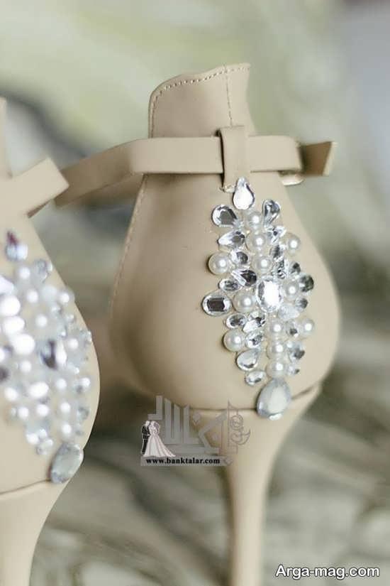 مدل تزیین کفش عروس