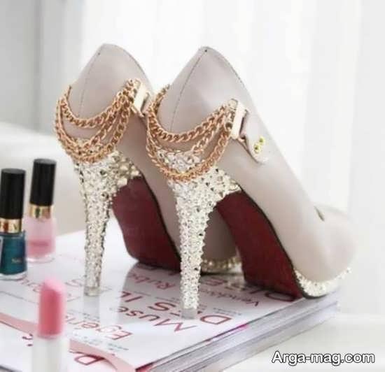 تصاویر تزیینات کفش عروس