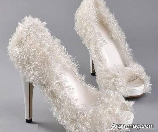 تزییناتی زیبا برای کفش عروس