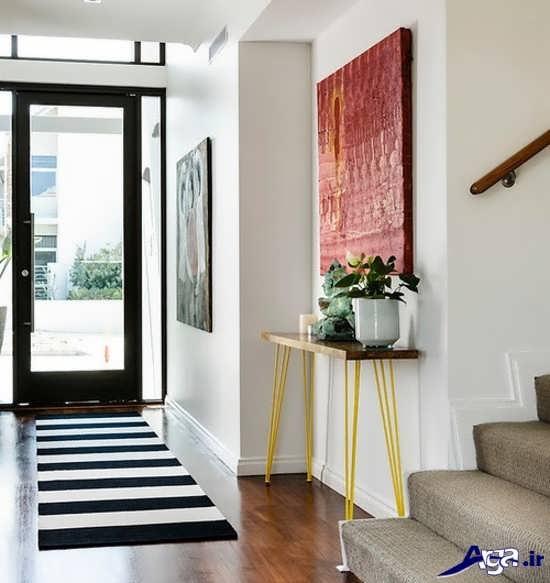 تزیین ساده و زیبای راهرو منزل