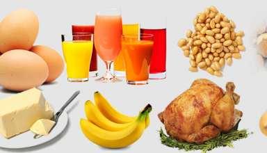 برنامه غذایی برای افزایش وزن