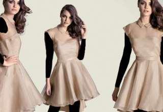 مدل لباس مجلسی دخترانه کوتاه با طرح های جدید