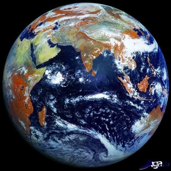 تصویر زیبای زمین از فضا