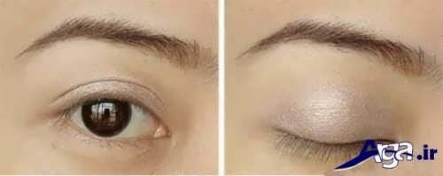 آموش آرایش چشم های پف دار