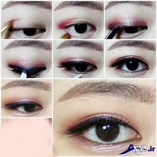 مدل زیبا آرایش چشم پف دار