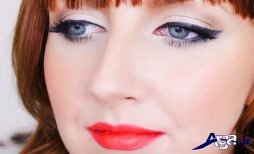 مدل زیبا و متفاوت آرایش چشم پف دار