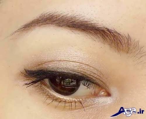 مدل آرایش چشم پف دار