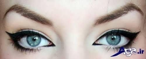 مدل خط چشم برای چشم های پف دار