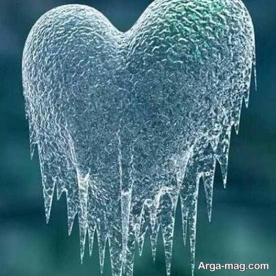 عکس زیبای قلب یخی