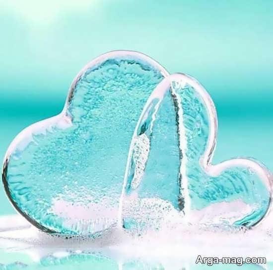 عکس دوست داشتنی قلب یخی