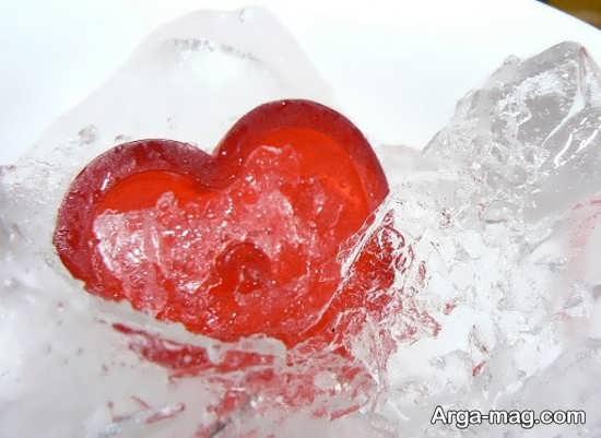 عکس پروفایل قلب یخی سرخ