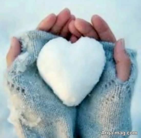 عکس پروفایل قلب یخی و برفی