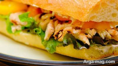 دستور تهیه ساندویچ مرغ مکزیکی