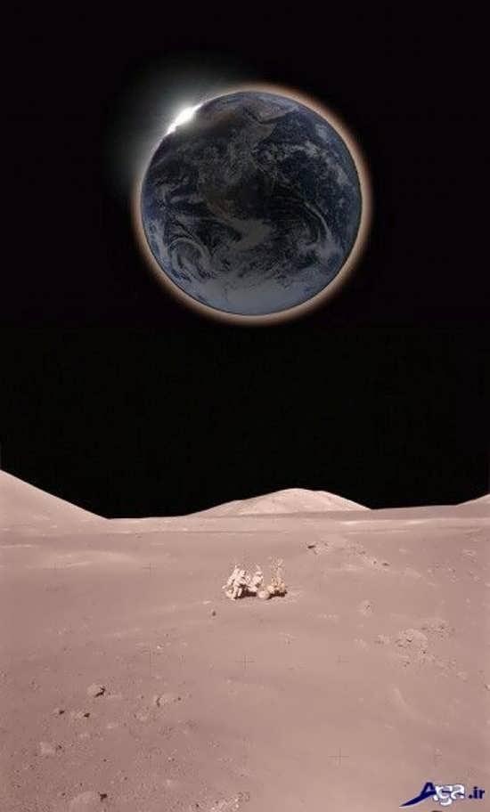 عکس زمین از روی ماه