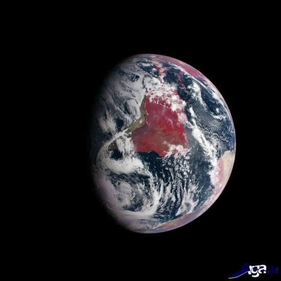 تصاویر زمین ازفضا با امواج مادون قرمز