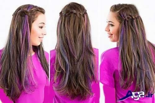 مدل بافت موی تاج آبشاری