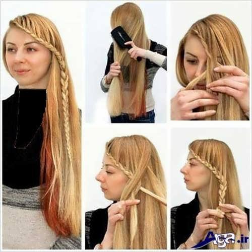 آموزش بافت موی بلند شیک و زیبا