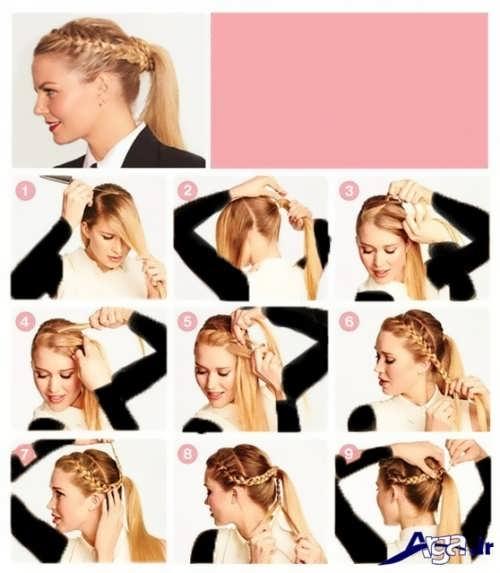 آموزش بافت موی بلند و شیک
