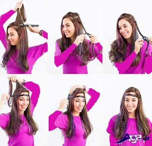 آموزش مرحله به مرحله بافت موی هدبن