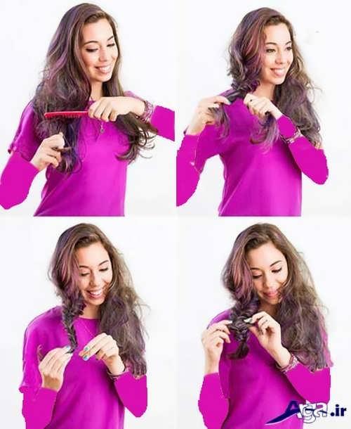 آموزش بافت موی زیبا و شیک