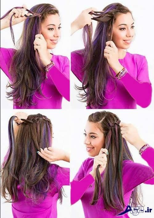 آموزش بافت موی تاج آبشاری