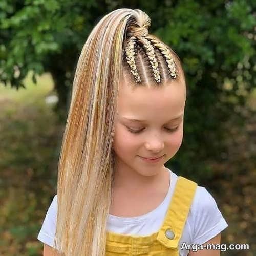 نحوه بافت موی بلند دخترانه