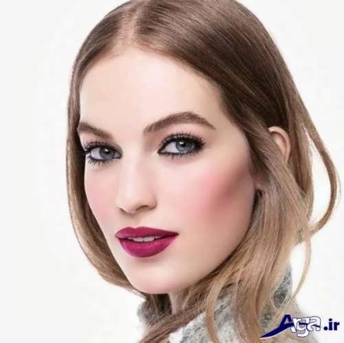 مدل شیک و متفاوت آرایش صورت دخترانه