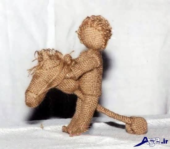 مراحل ساخت عروسک با نخ گونی