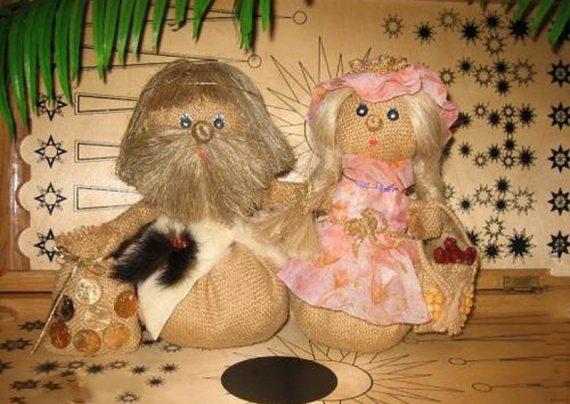 ساخت عروسک با گونی نخی