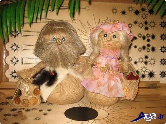 ساخت عروسک های بامزه با گونی