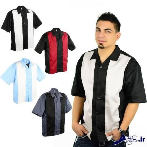 مدل پیراهن مردانه دو رنگ