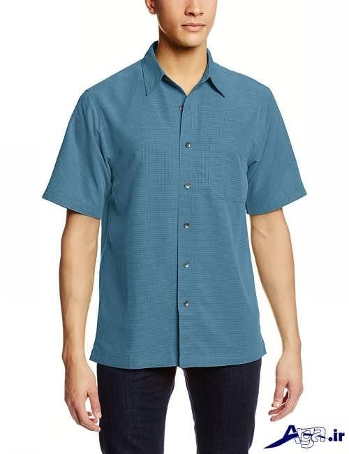 پیراهن کوتاه کرپ ساده مدل های پیراهن آستین کوتاه مردانه جدید و شیک
