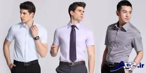 مدل پیراهن مردانه آستین کوتاه