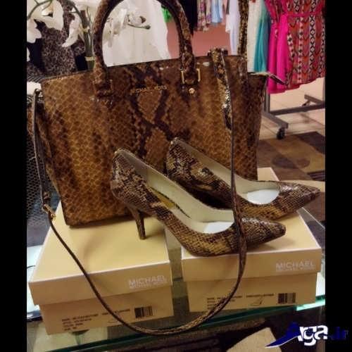 مدل کیف و کفش زنانه طرح دار